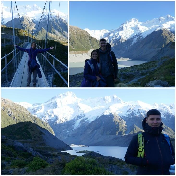 La randonnée du hooker glacier lake