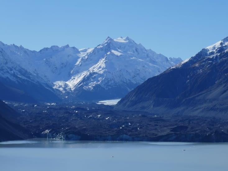 Le glacier de Tasman... Ou ce qu'il en reste