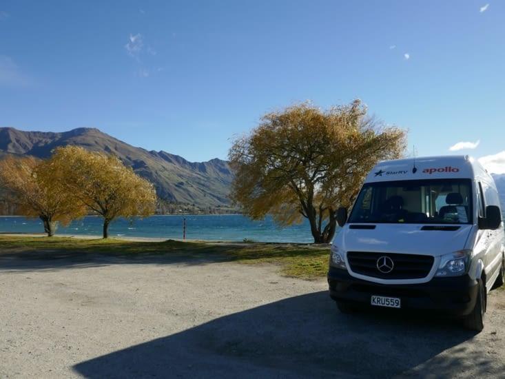 Repas au bord du lac Wanaka