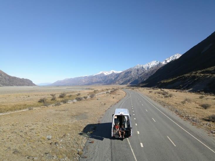 Sur la route de Mont Cook