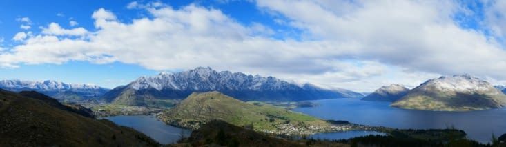 Vue panoramique sur Queenstown