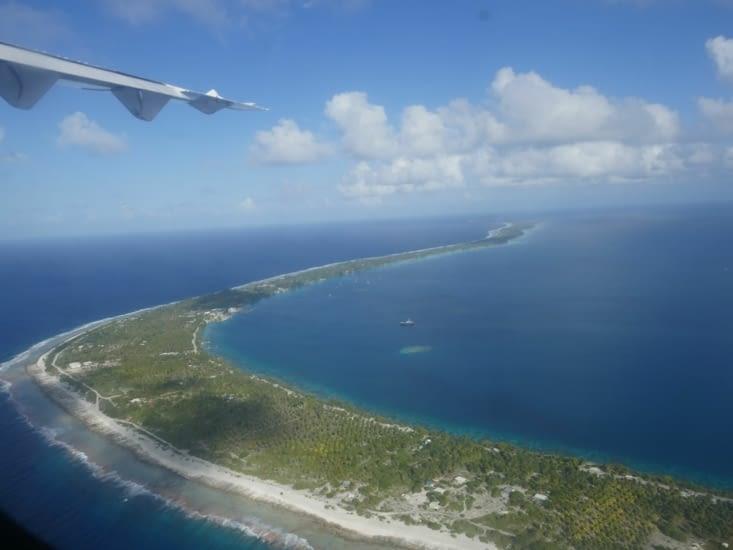 Fakarava depuis l'avion