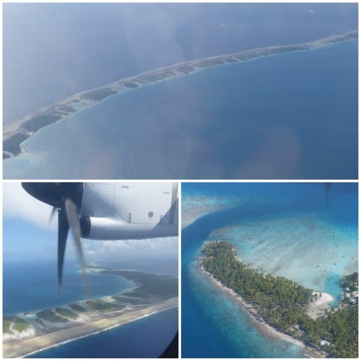 Rangiroa depuis l'avion