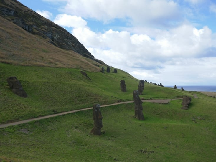 La carrière au Moai