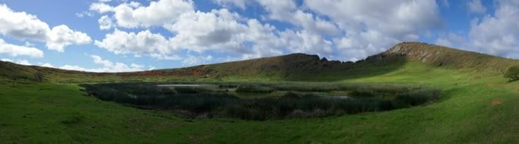 Le cratère où ils récupéraient la pierre