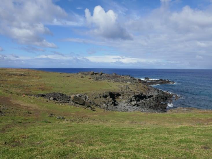 Moai a terre