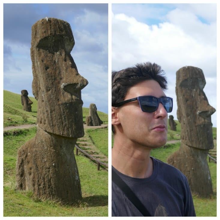 Moai terminé, en cours d'acheminement