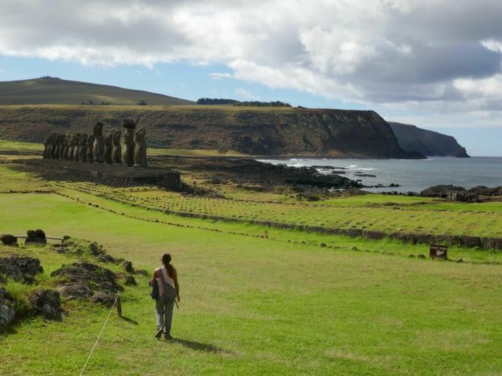 Tongariki et ses 15 Moai