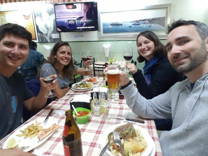 Petit restaurant après la qualification de la Franceeee