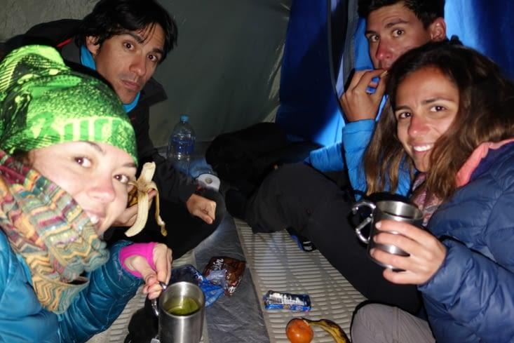 Jour 1: dans notre tente