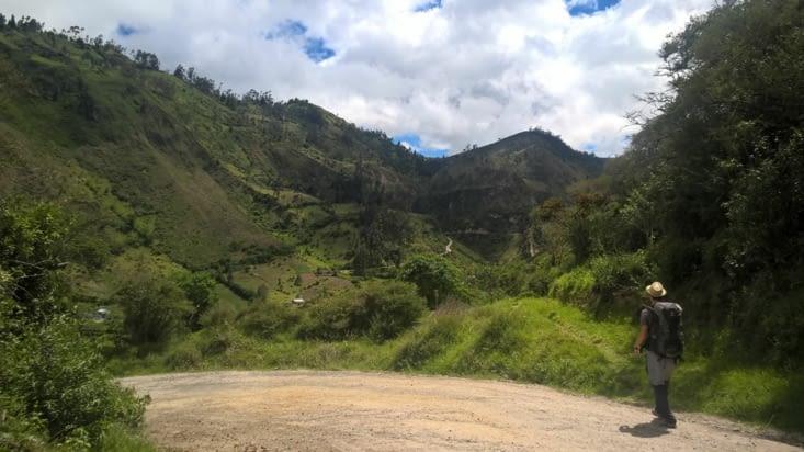 Sur la route de Quilotoa