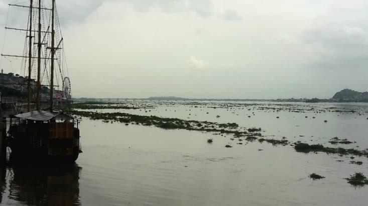 Le fleuve Guyas avec le bateau du Capitaine Morgan (avis aux connaisseurs)