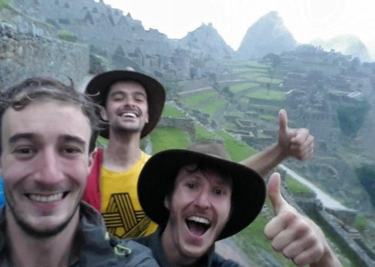Les premiers au Machu Picchu
