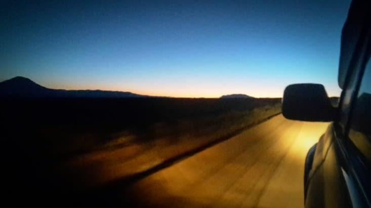 La jeep sur les pistes