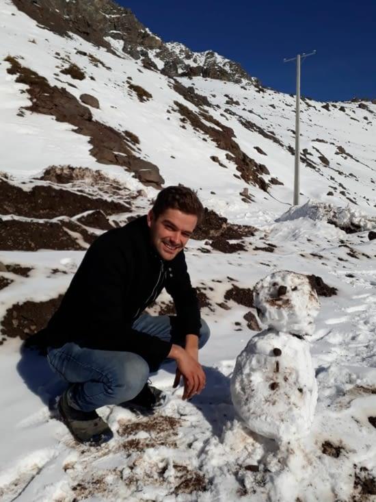 Frontière chilienne dans la neige !