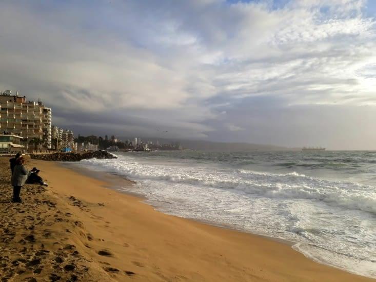 La plage de Viña del mar