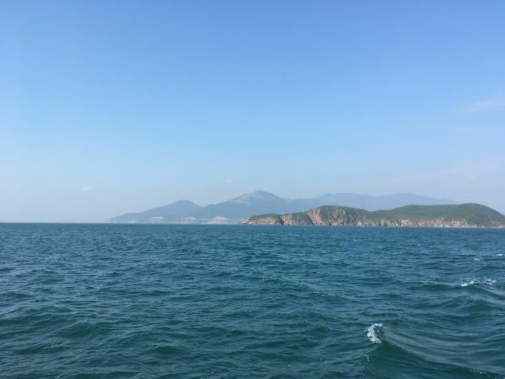 11/02/2018, c'est partie pour la plongée! Voici Les îles en face de Nha Trang