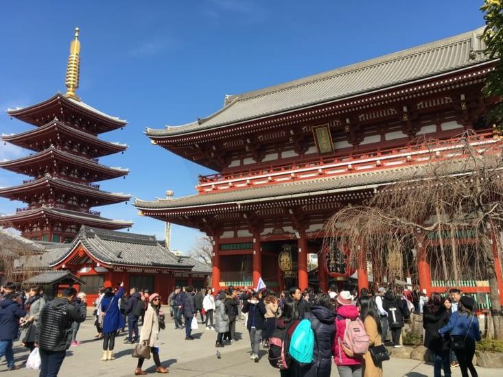 Temple Sensō-ji dans le quartier de Asakusa.
