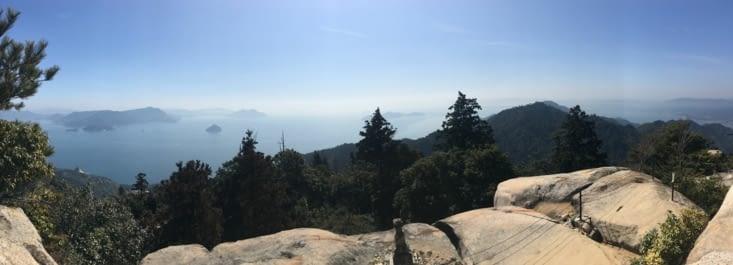 Vue en haut du mont Misen