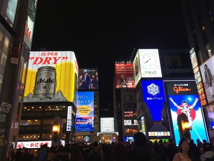 Ôsaka, Dōtonbori de nuit