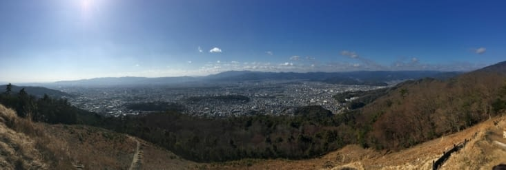 Kyôto vue du haut du mont Daimonjiyama
