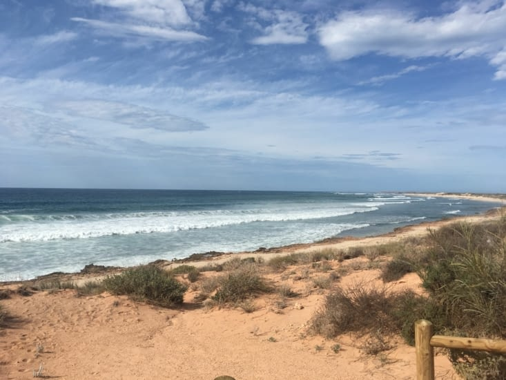Plage de surfeur à Exmouth