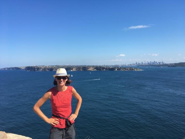 Vue du parc North head sur la ville de Sydney.