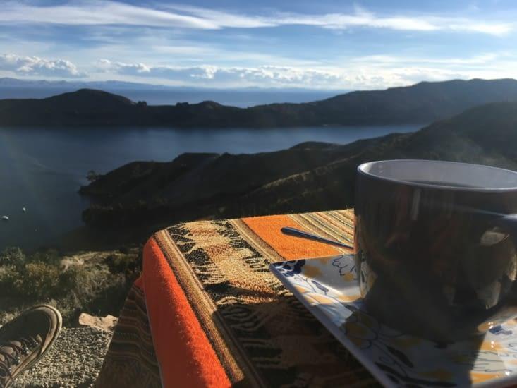 Dégustation d'un thé au coca sur l'ileu