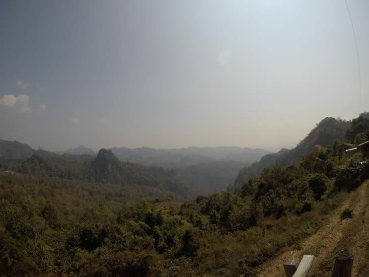 Le magnifique point de vue depuis le village de Ban Jabo (c'est encore plus beau en vrai)