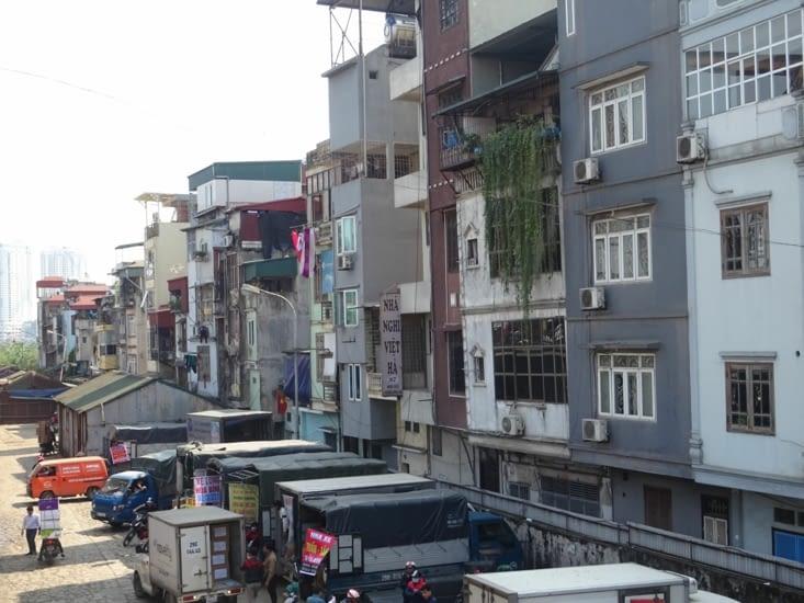 L'agencement bien particulier des immeubles à Hanoï