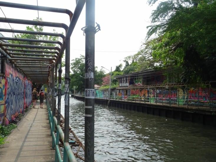 L'un des canaux de Bangkok