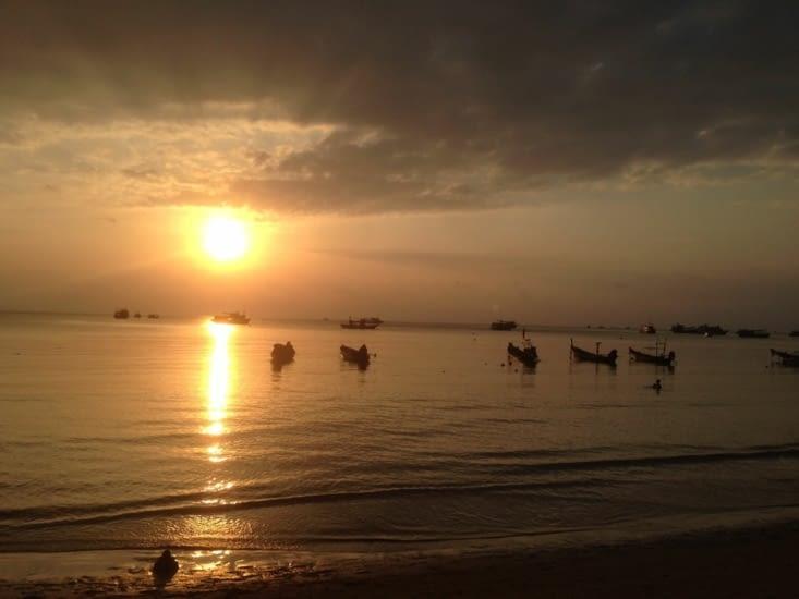 Coucher de soleil post-plongée