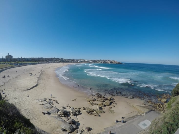 Pas bondée la Bondi Beach