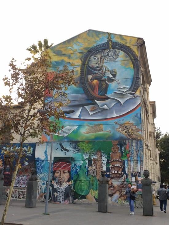 Fresque sympatoche vue à Santiago