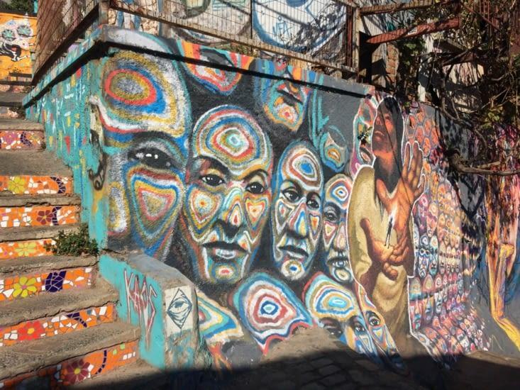 Le street art à Valpo, ça a de la gueule (2)