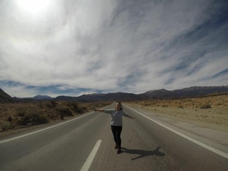 Hormis une Coralie de temps en temps, les routes sont désertes