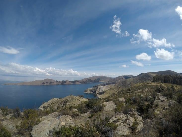 Et donc ce que vous voyez là, c'est le lac Titicaca