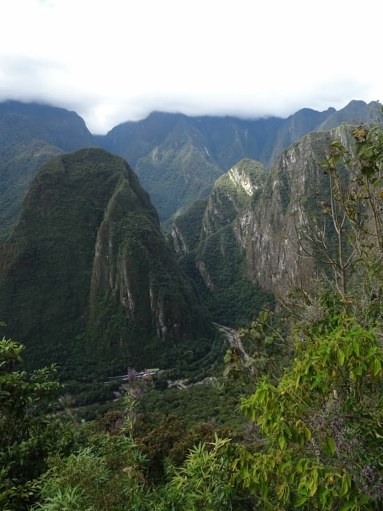 Avant d'entrer au Machu Picchu