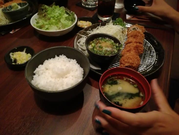 Repas japonais... Sans sushi!