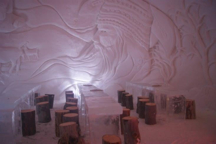 salle à manger igloo