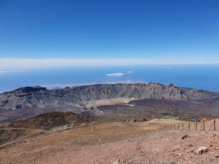 le cratère où nous irons randonner