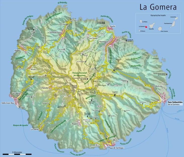 carte de la Gomera
