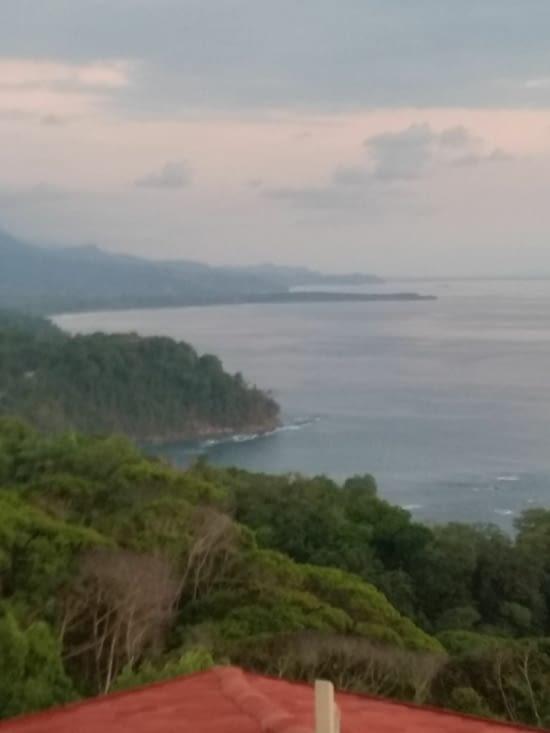Vue de ma terrasse sur le Pacifique
