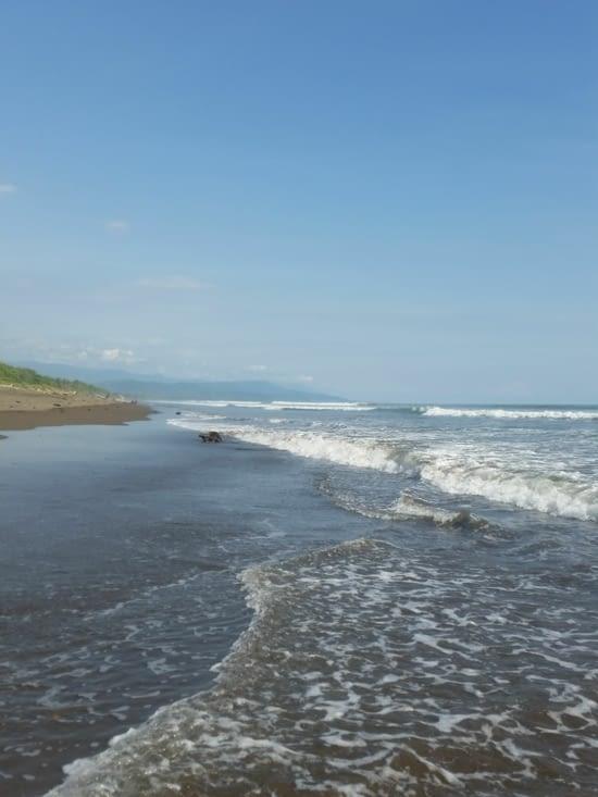 Nouvelle plage du début du monde