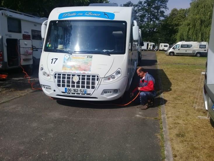 Controle de la pression des pneus avant de partir