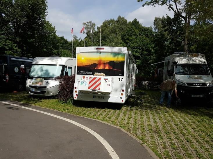 Arrivée au beau camping de Moscou