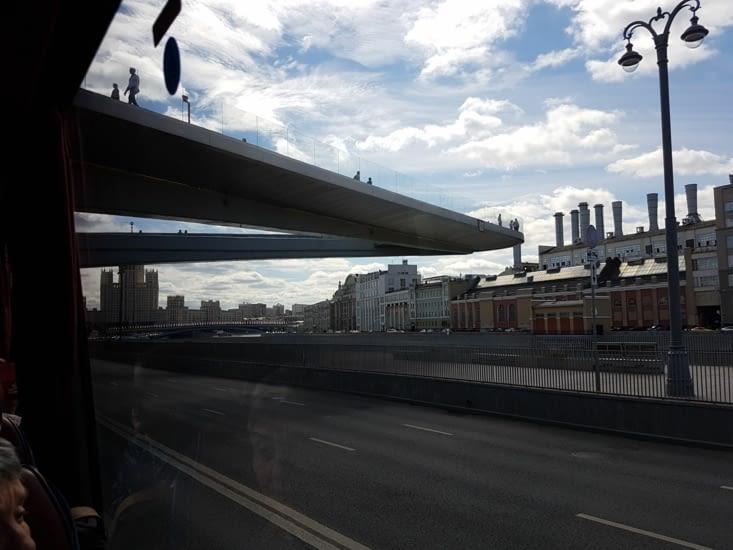 Pont panorama qui permet un super point de vue sur le centre de Moscou