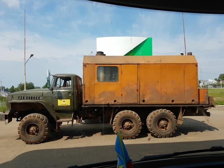 Un véhicule de l'époque Sovietique