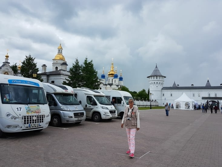 Notre emplacement devant le Kremlin