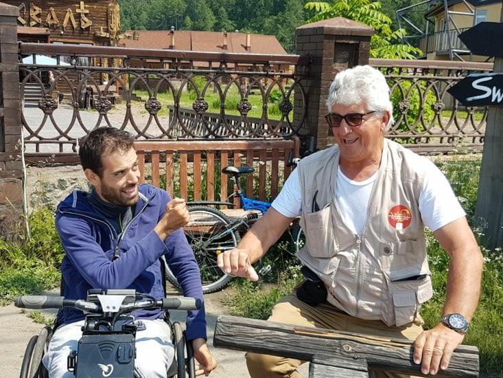 Sam et JF en moto
